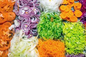 gehobeltes Gemüse